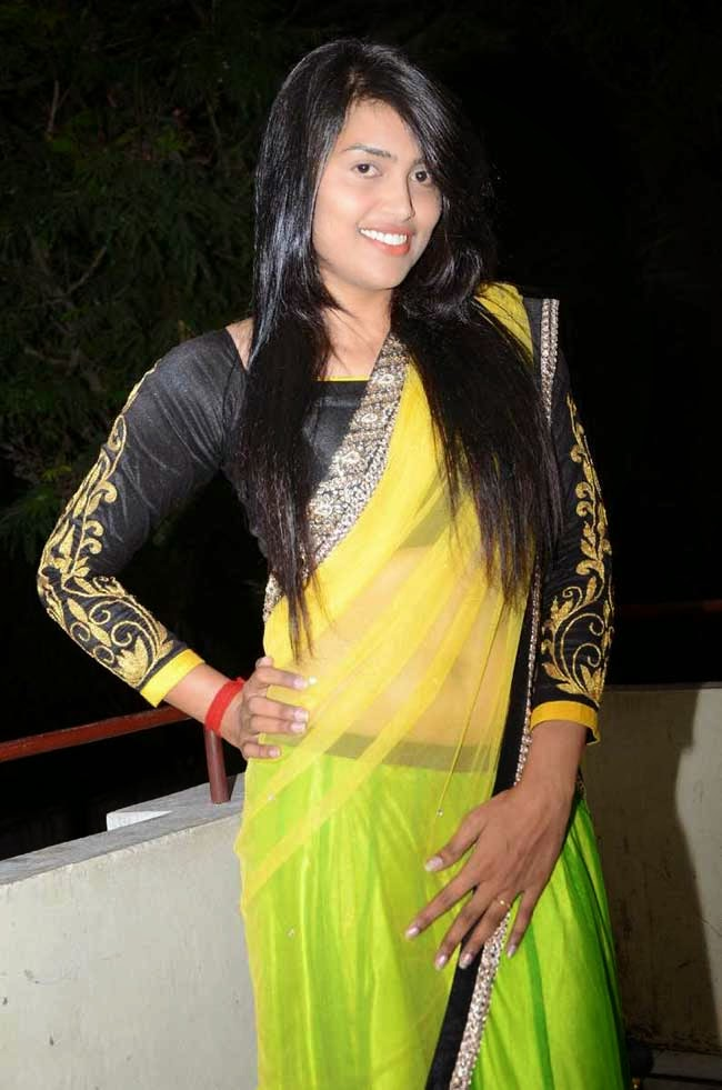 Actress Sravanthi In Netted Half Saree