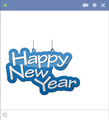 Happy New Year sticker for Facebook
