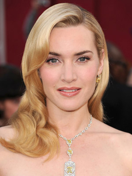 Kate Winslet's lush waves give off a glamorous Old Hollywood vibe.