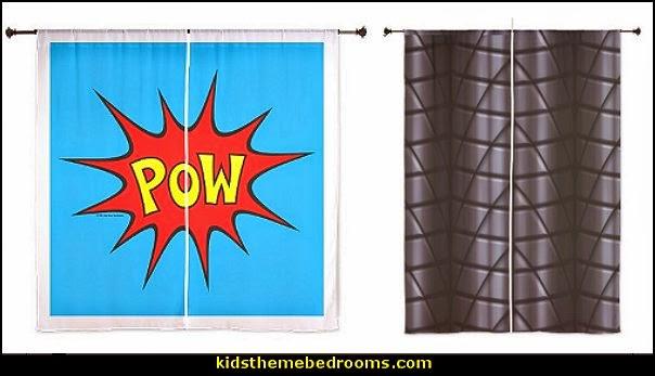 Superheroes bedroom ideas - batman - spiderman - superman decor