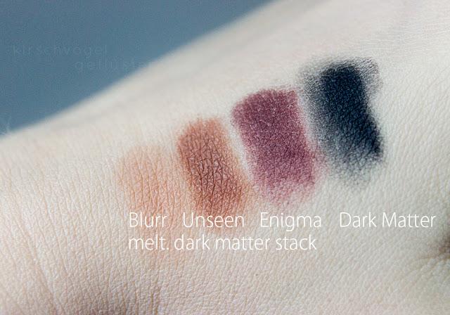melt dark matter stack swatches blurr unseen enigma