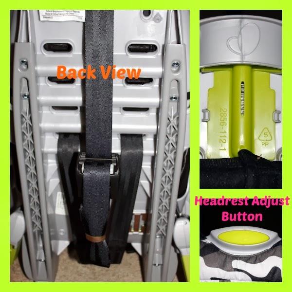 Snugli Camo Print Harnessed Booster Car Seat