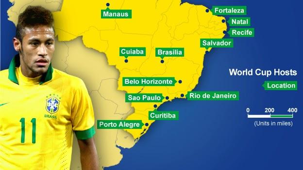 Daftar Stadion Piala Dunia 2014 di Brasil