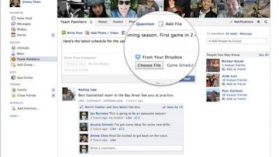 فيس بوك يدعم مشاركة الملفات عبر دروب بوكس