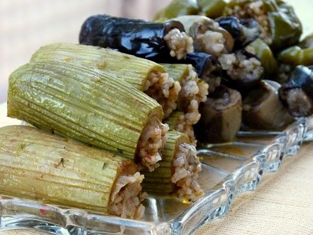 Ägyptische Gefüllte Zucchini und Auberginen