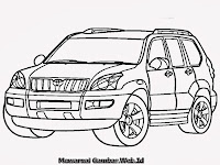 Gambar Mobil Toyota Land Cruiser Untuk Mewarnai