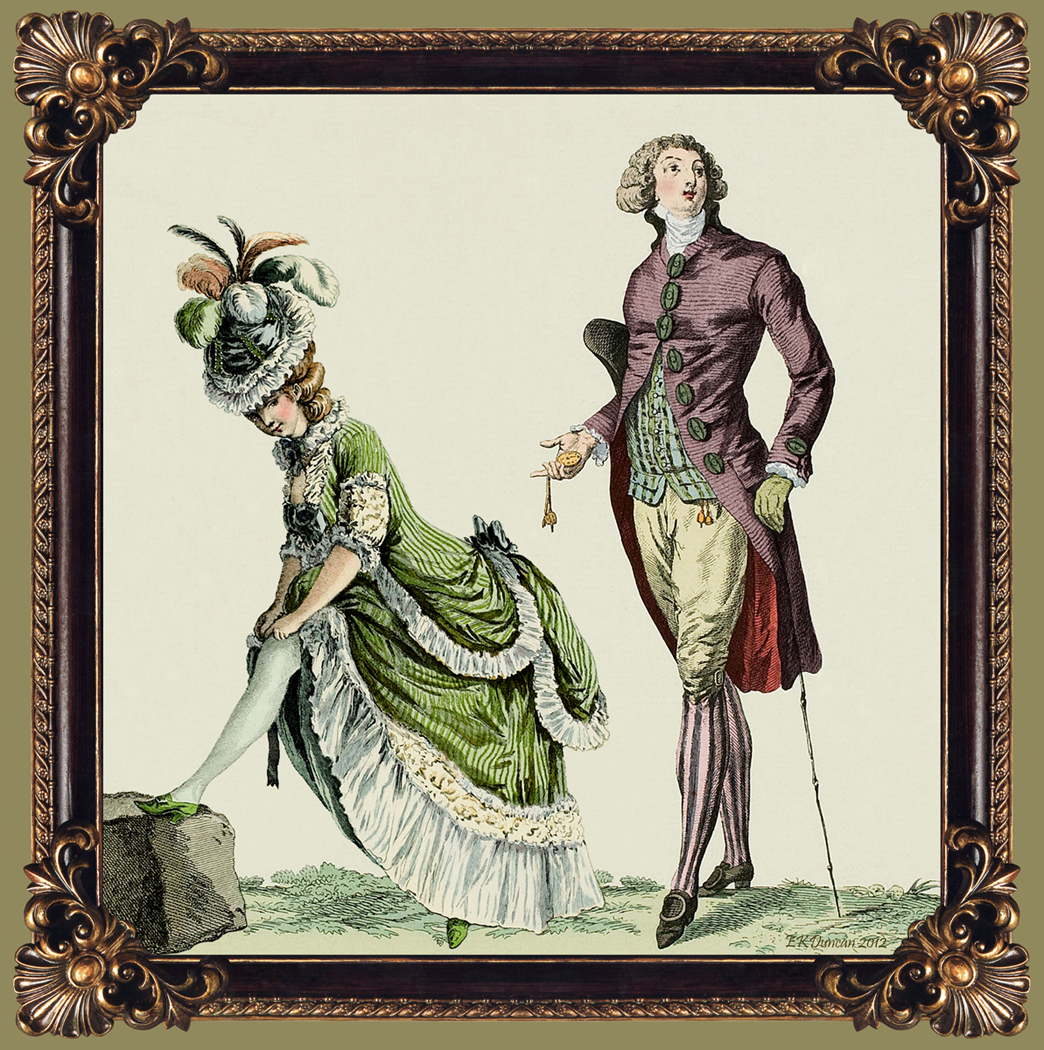 my fanciful muse late 18th century french fashions trying not to peek by using vintage 18th century fashion plates