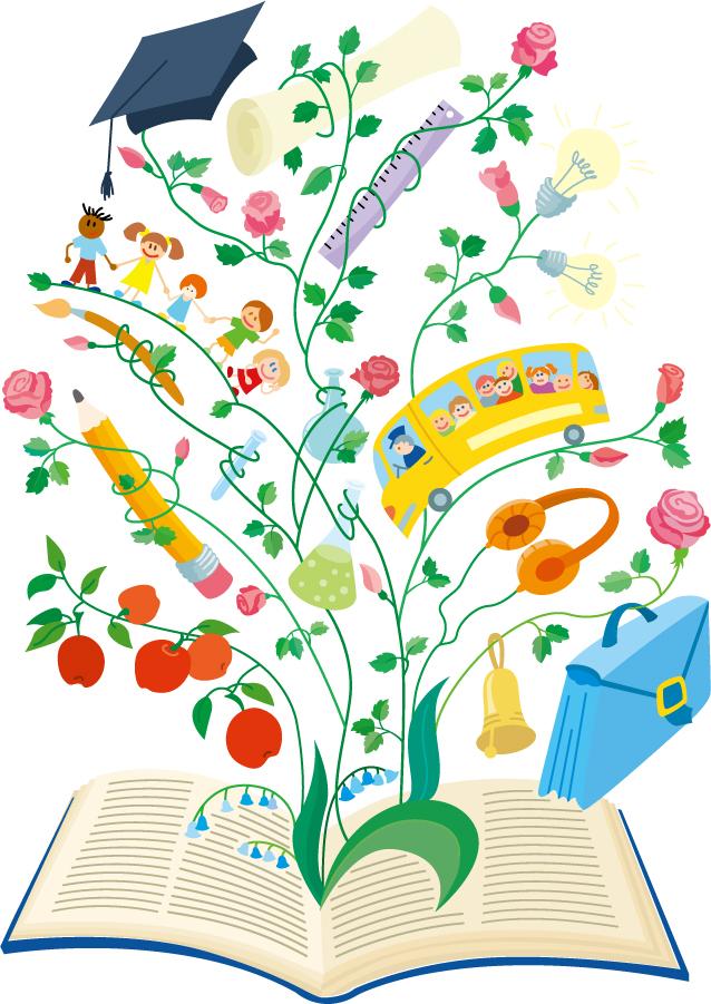 本から学習するイメージの背景 creative learning illustrator イラスト素材