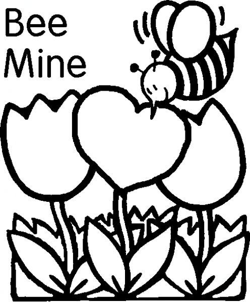 v is for valentine coloring pages - photo #43