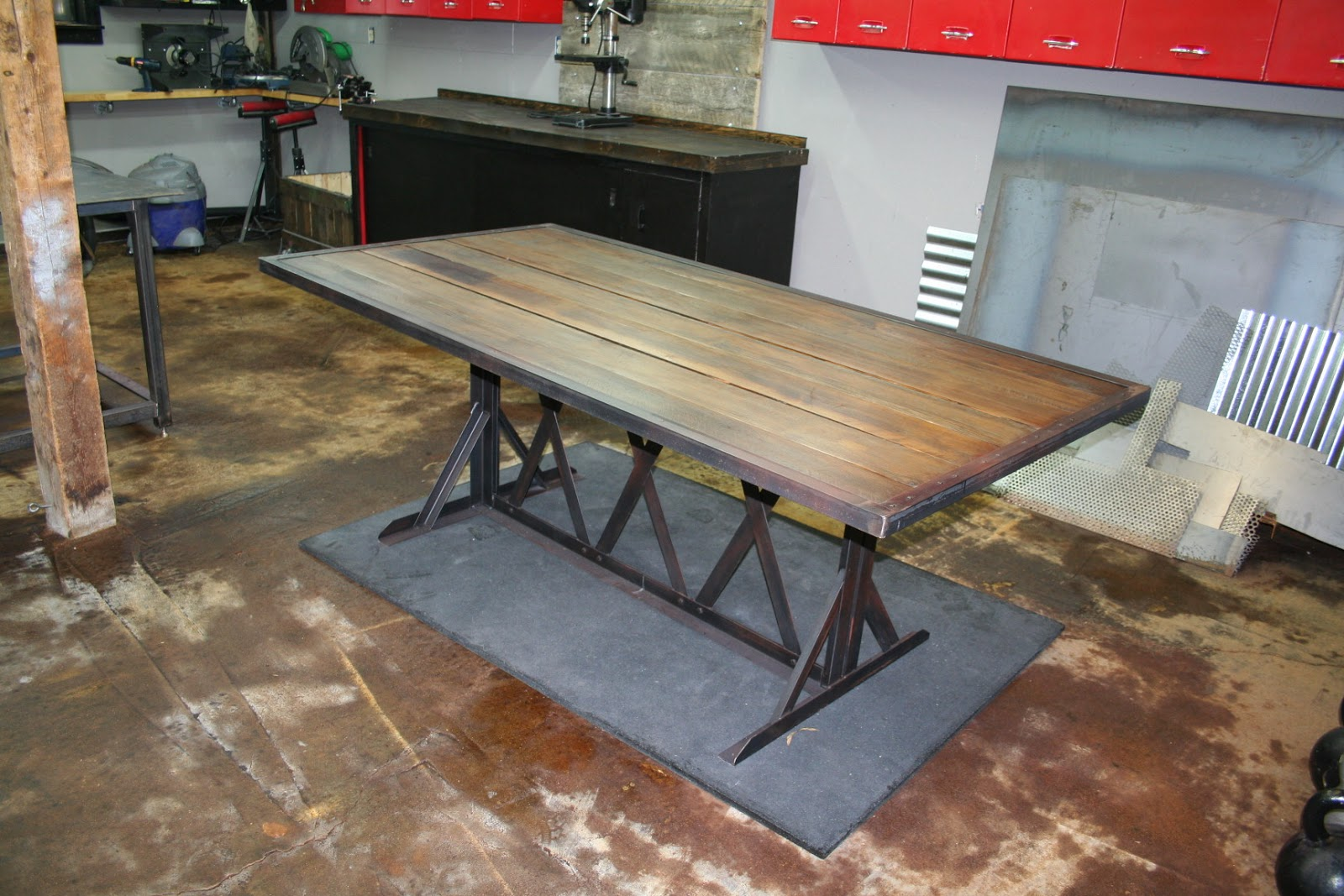 real industrial edge furniture llc industrial reclaimed wood dining
