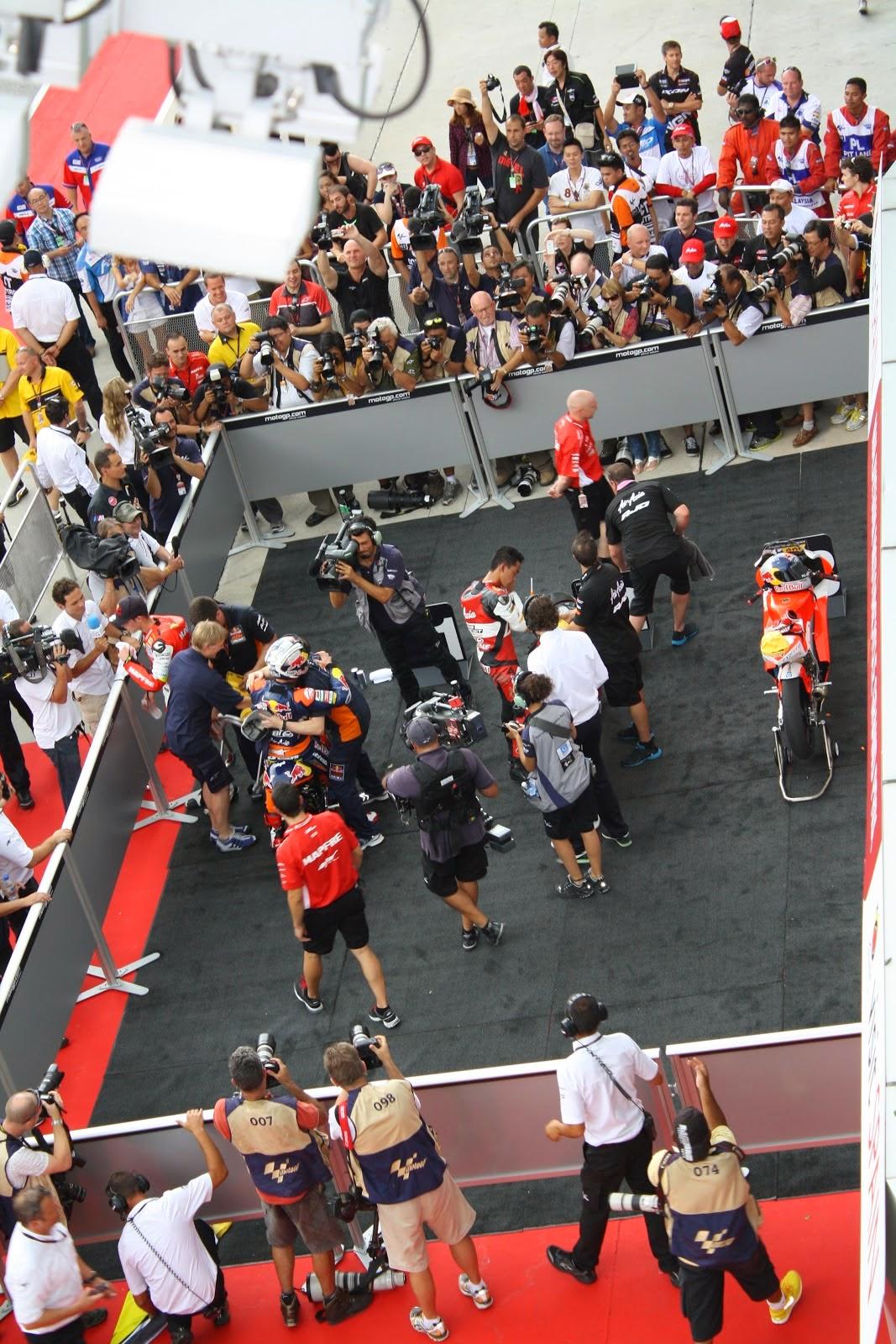 podium de moto3 en sepang 2012