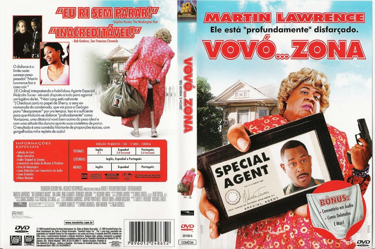 Baixar Filme Vovó... Zona DVD Capa