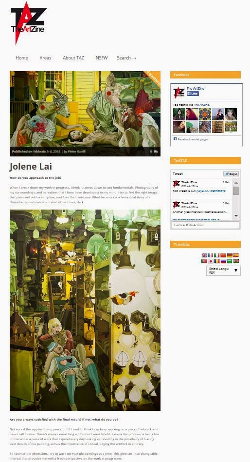 Jolene Lai interview on The ArtZine