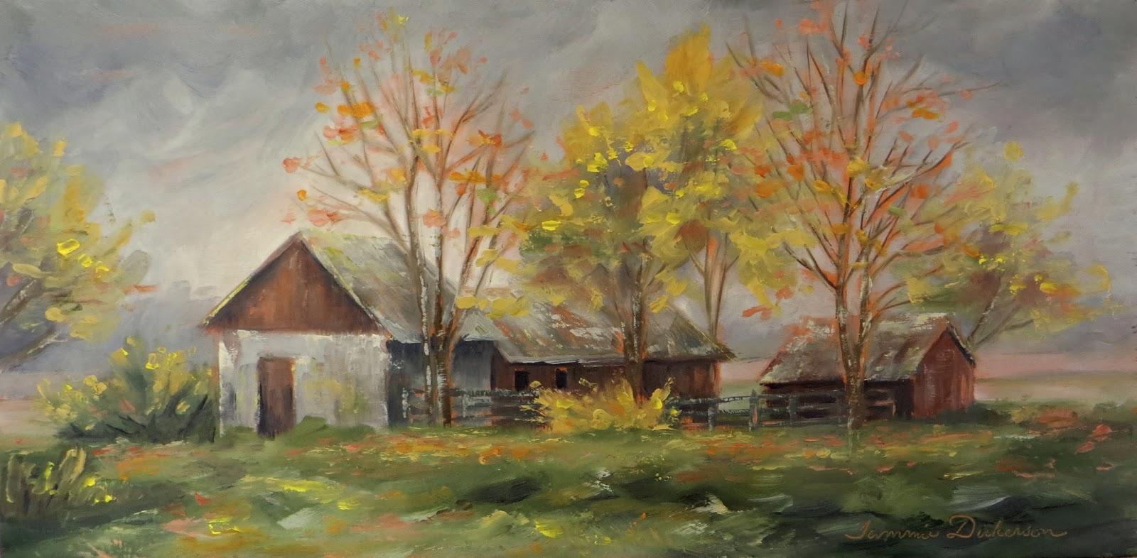 Tammie Dickersons Artistic Journey Milk Barn In Autumn