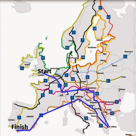 EuroVelo Routeplanner