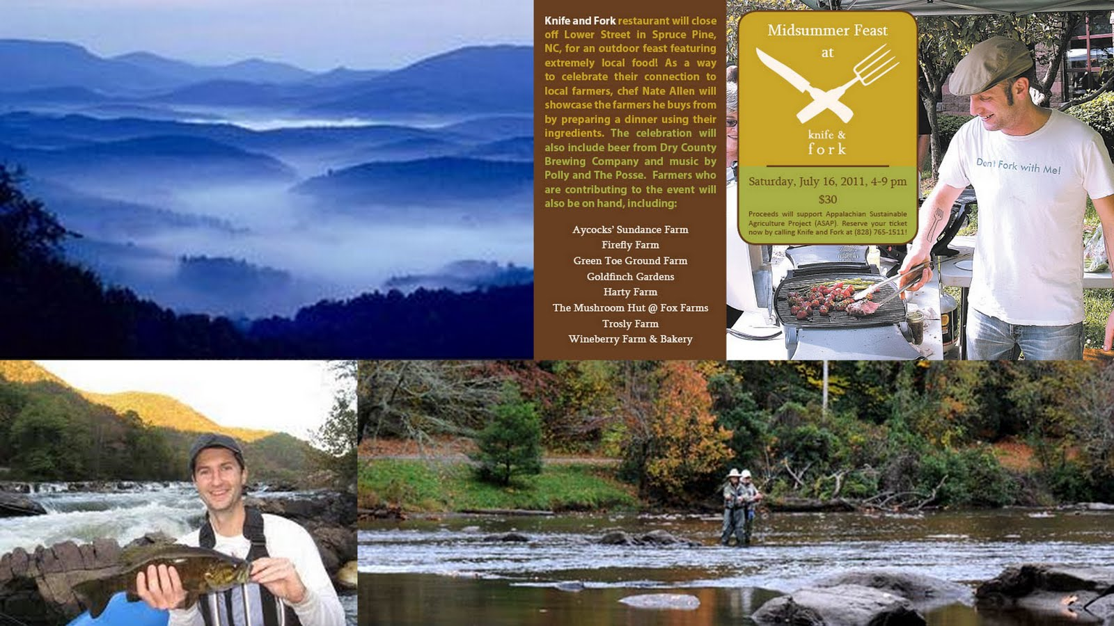 The cove at celo mountain blog mid summer magic in the mountains farms fishing and feasting - Trout farming business family mountains ...
