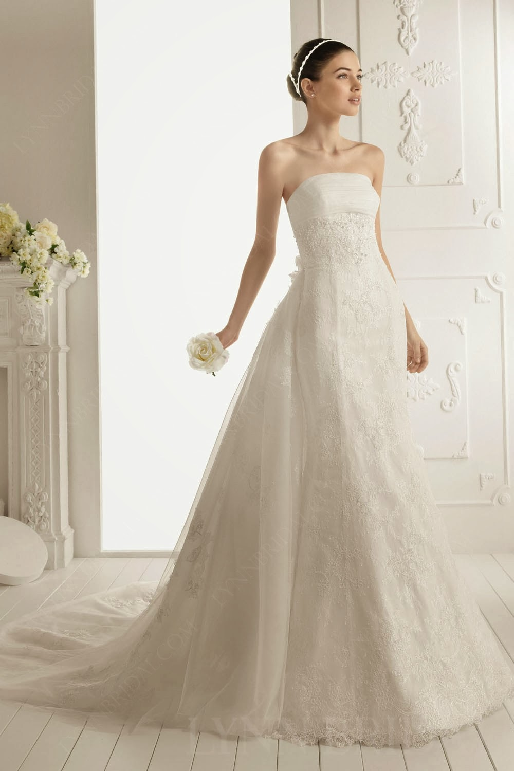 Welcome for Detachable train wedding dress