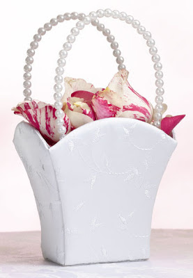 pearl flower girl basket