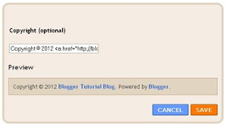Widget Attribution, Power By Blogger, Cara menambahkan Link blog di dalam widget Attribution