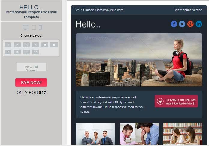 Hello – Professional Responsive Email Template