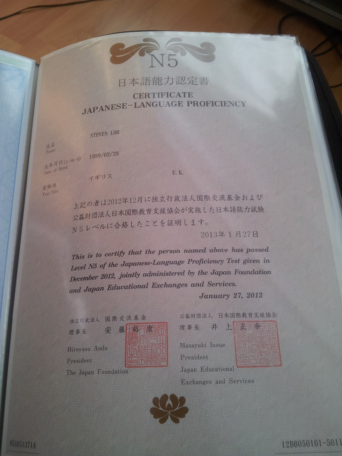 jlpt n5 test papers pdf