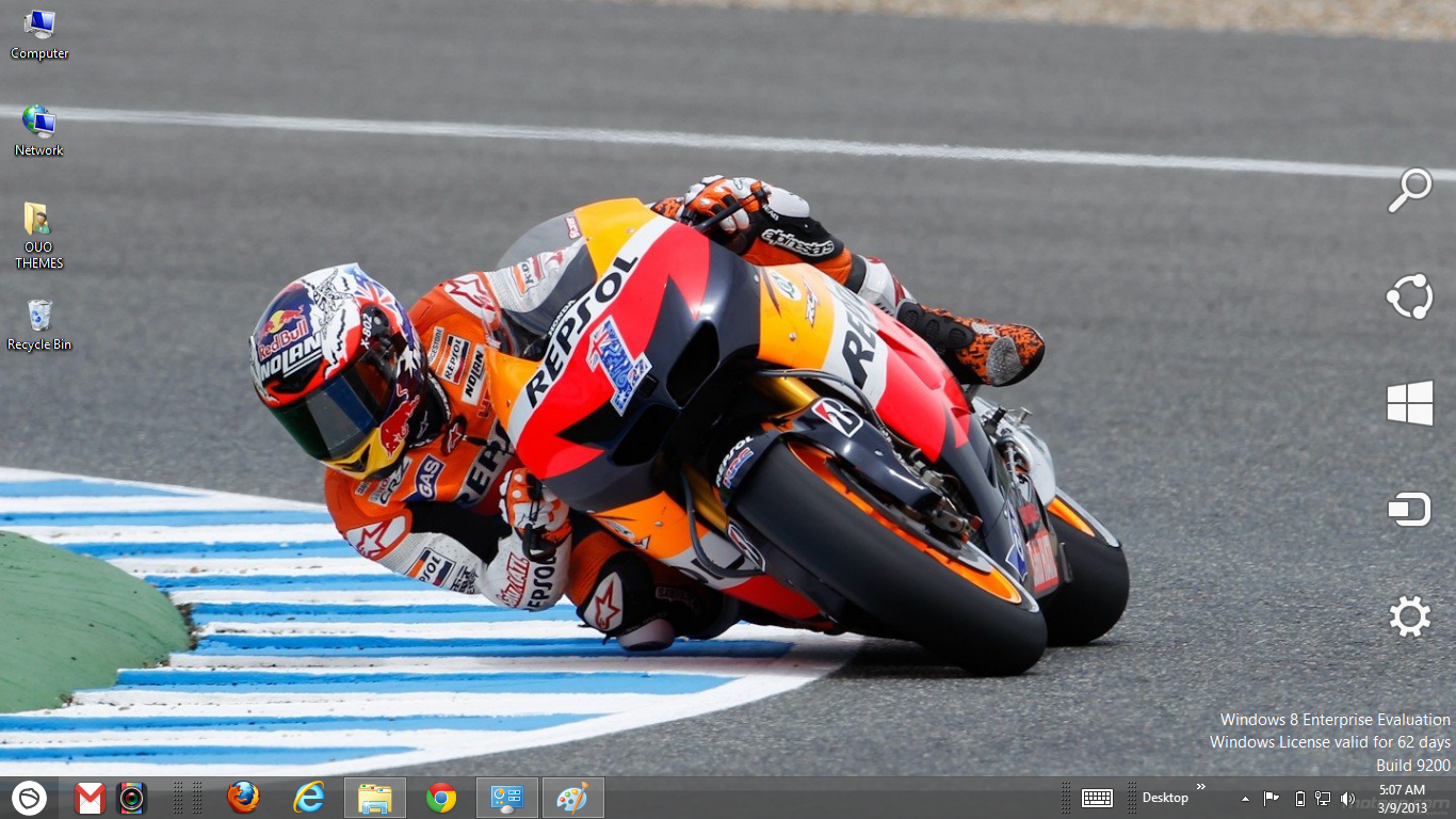 Casey Stoner MotoGp 2013 Theme For Windows 7 And 8