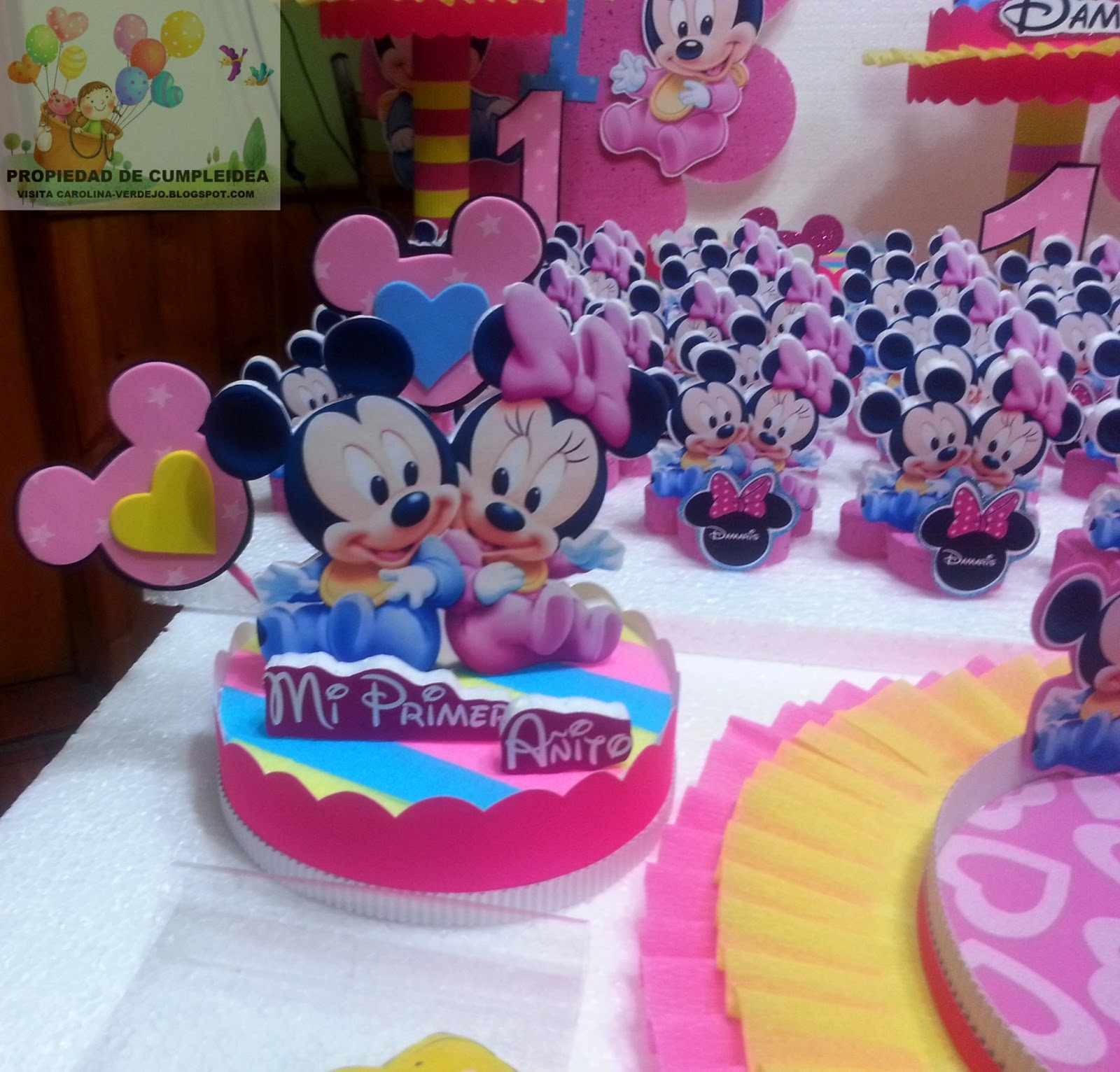 DECORACIONES INFANTILES: minnie y mickey bebe