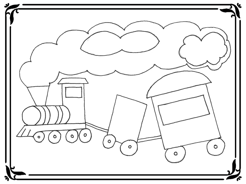 coloring pages trains preschoolers development - photo#2