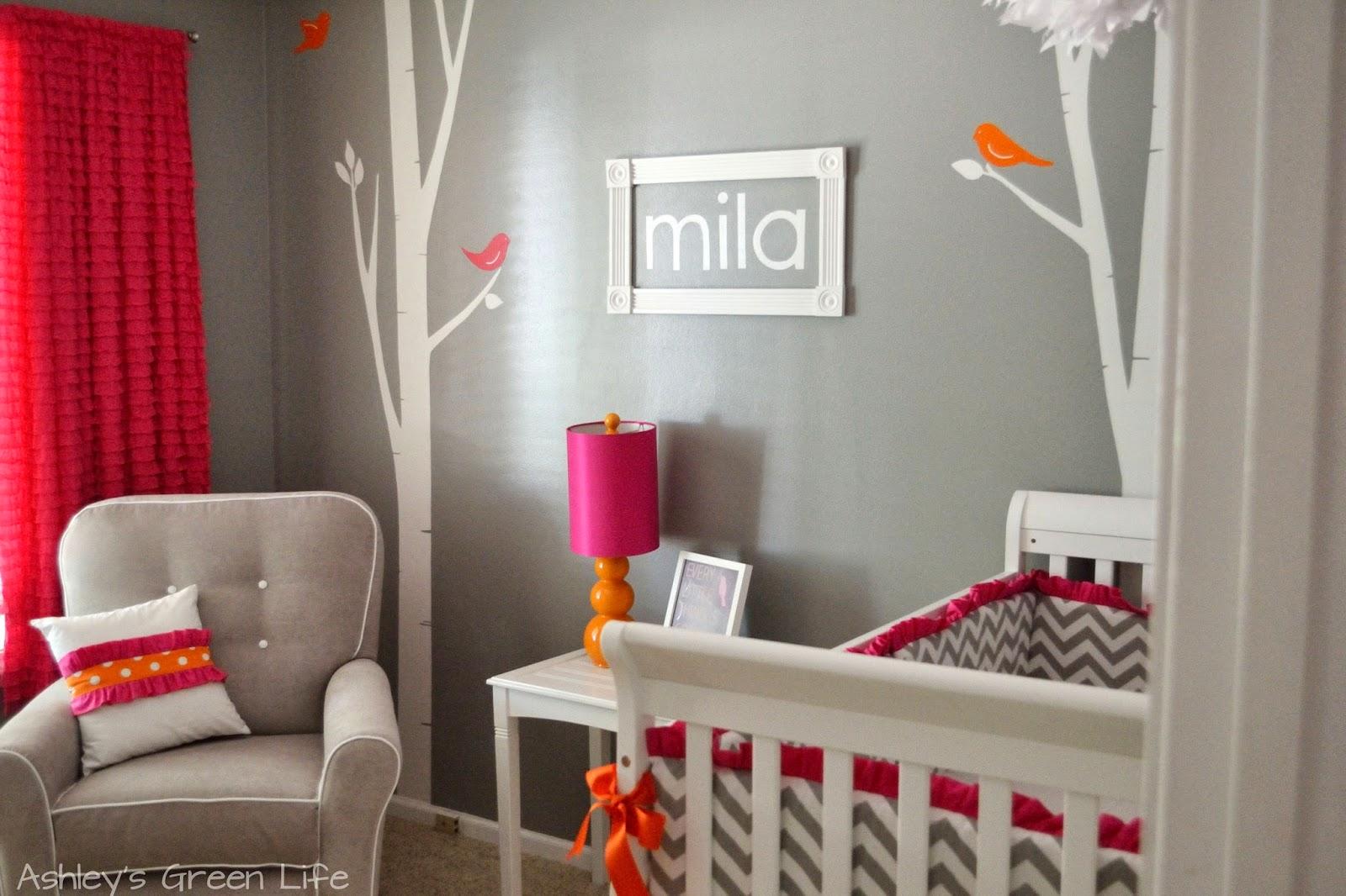 Ashleys Green Life Baby Milas Grey Pink Amp Orange Nursery Reveal