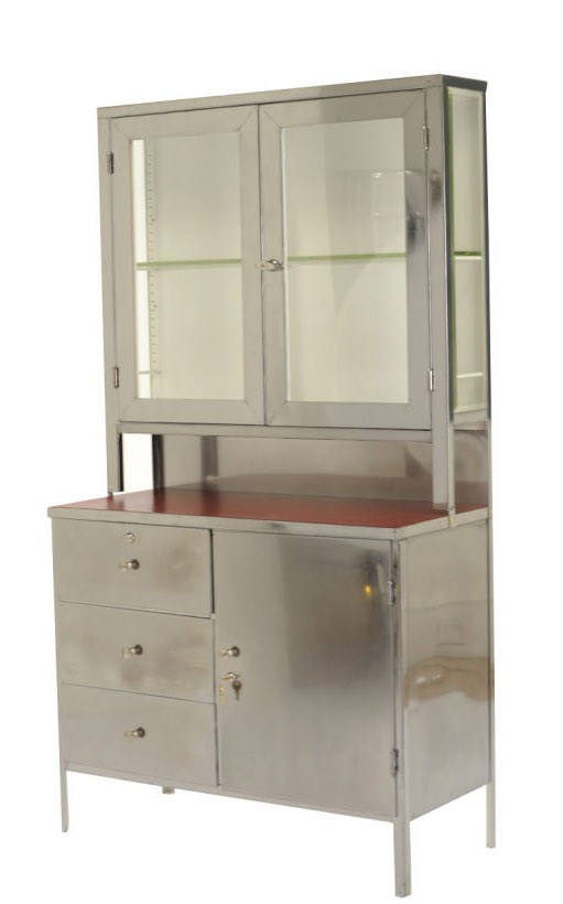bear with me a minute folks iu0027m gonna get all quirky on you iu0027ve just discovered two vintage stainless steel medical cabinets set to go up for a local