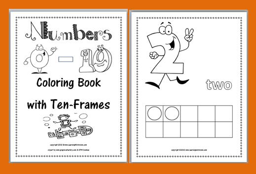 Ten Frame Printable Worksheet Math freebie: ten-frames