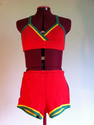 Marshmallow Electra sun top and shorts