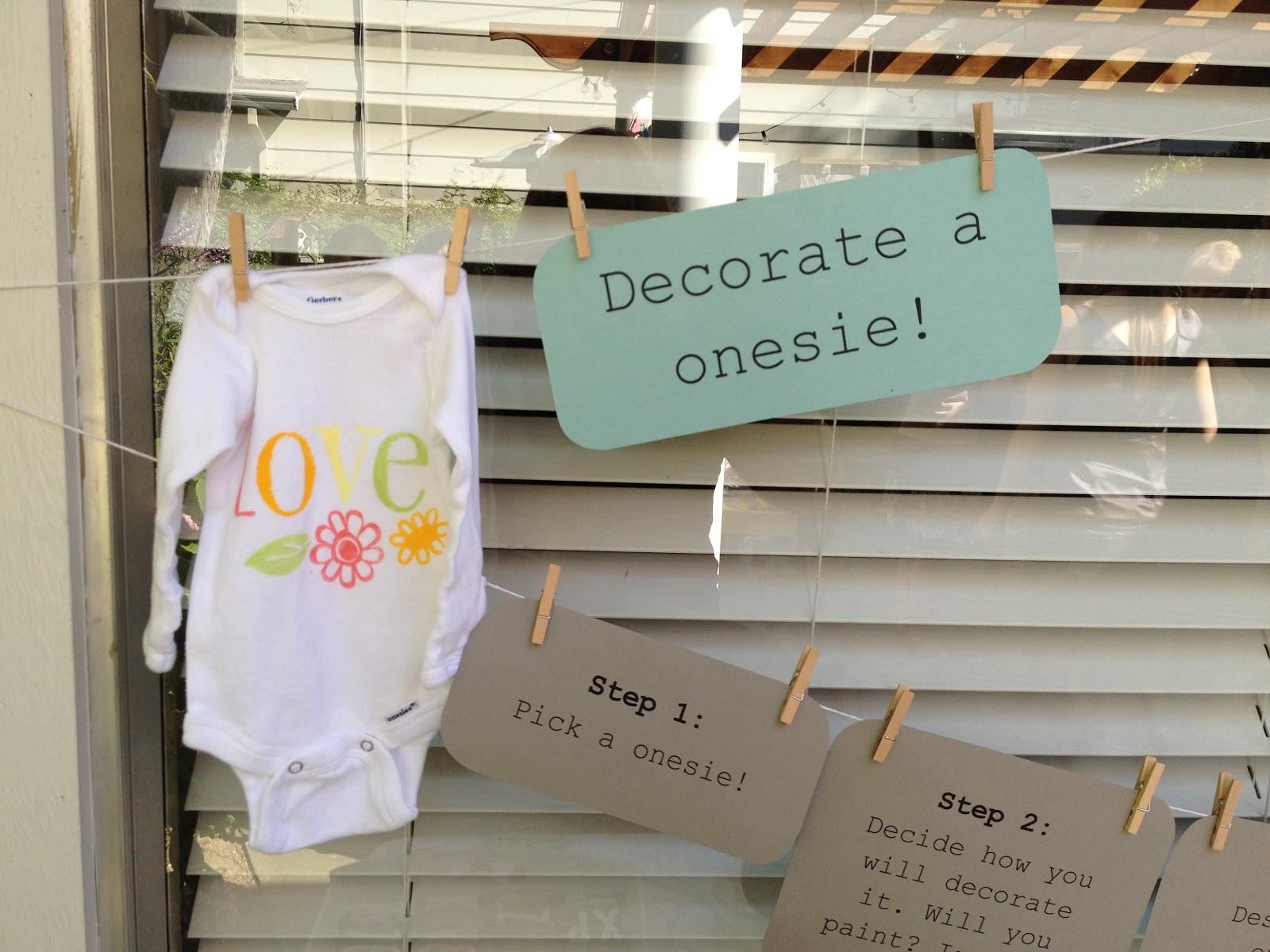 Lingering Daydreams Diy Baby Shower Onesies