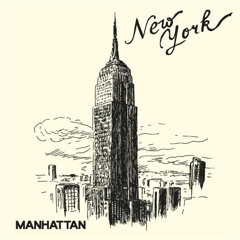 Nueva York a plumilla - vectorial