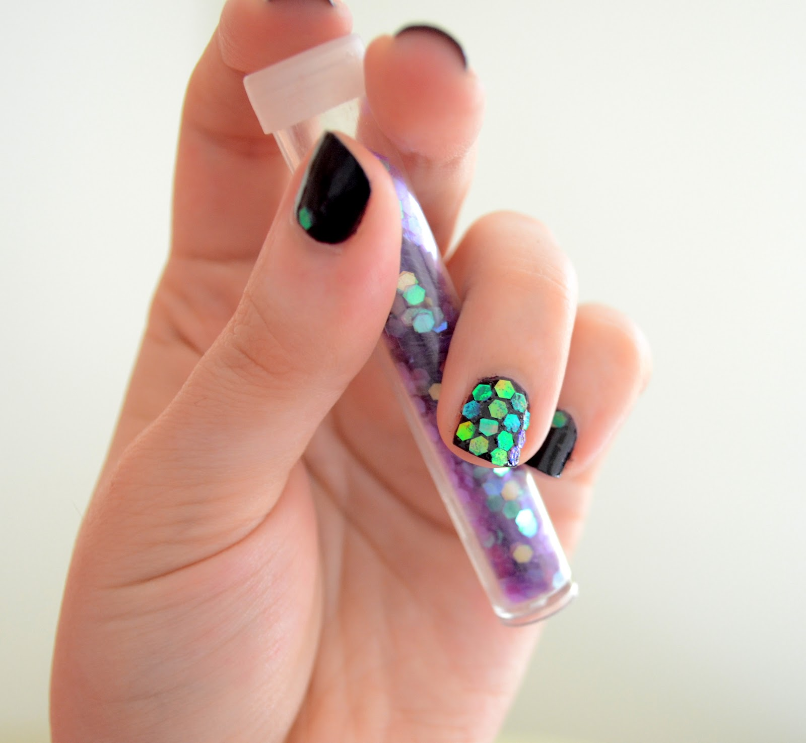 Very Enchanting: Nail Art Tape & Sequins Tutorial