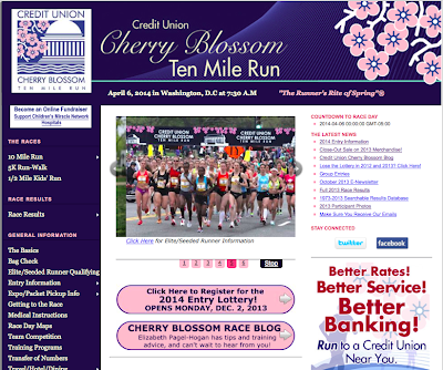 Cherry Blossom Race Blog