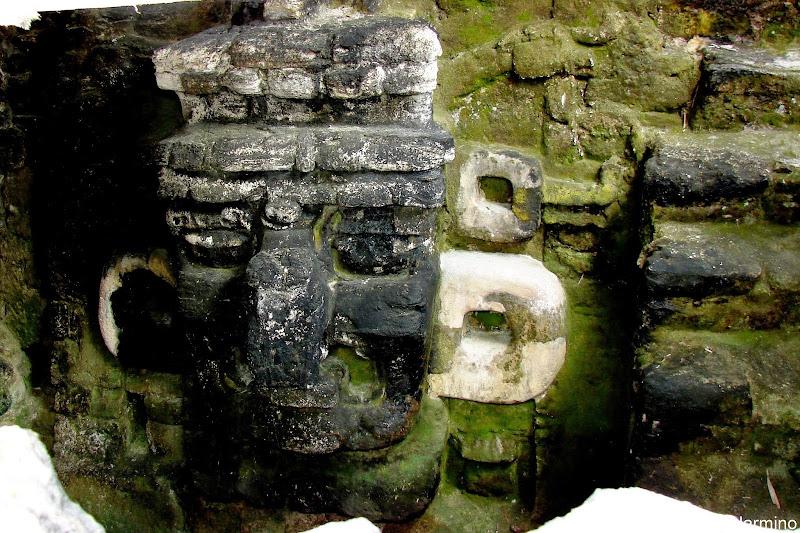 Stone Mask Acropolis del Norte Tikal Guatemala