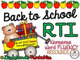 BACK to SCHOOL R.T.I. Bundle
