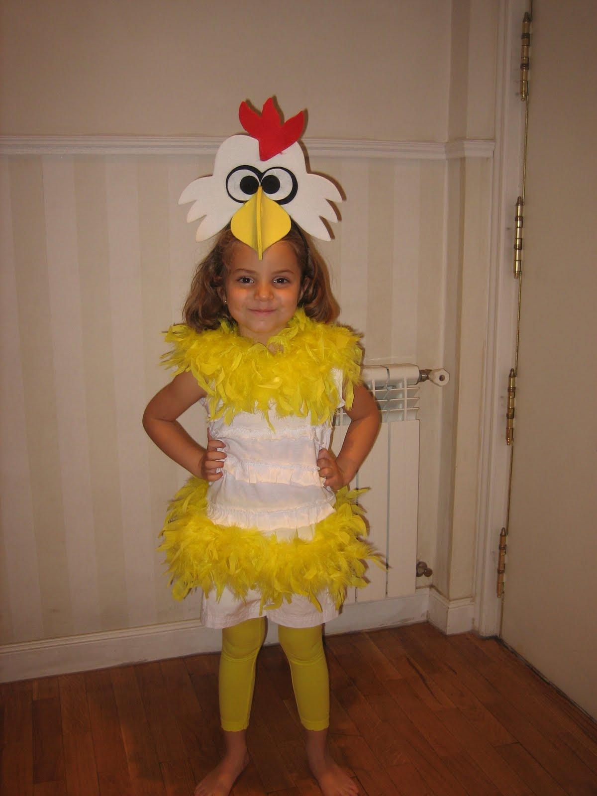 Como hacer un disfraz de pollo para niño - Imagui