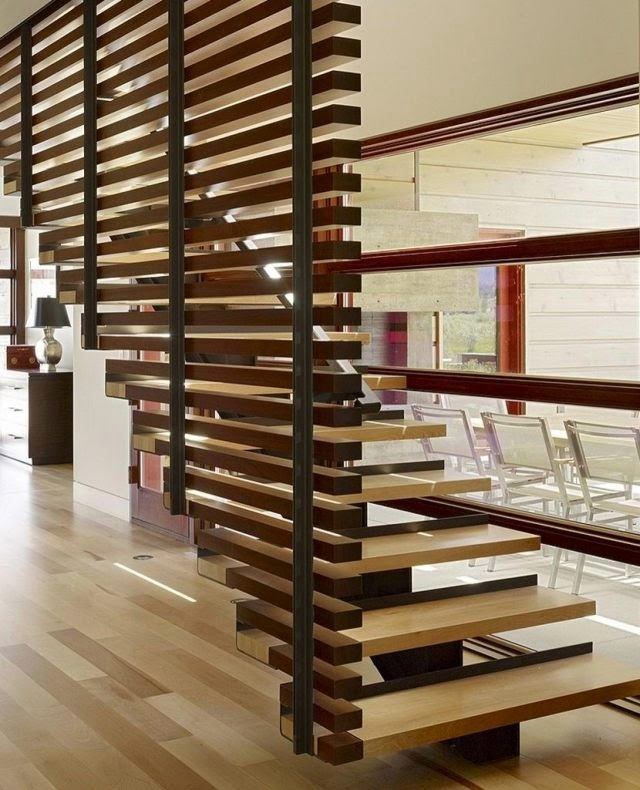 staircase wall design ideas modern wooden staircase wall with central stringer - Stairs Design Ideas