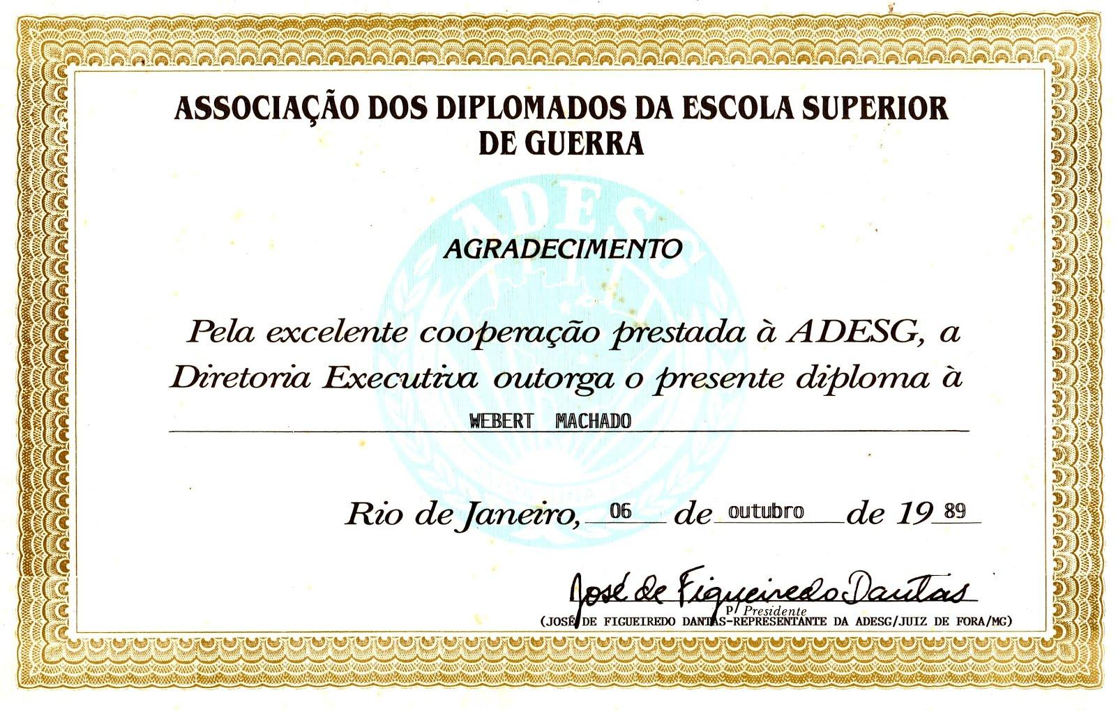 ADESG JF - Associação dos Diplomados da Escola Superior de Guerra