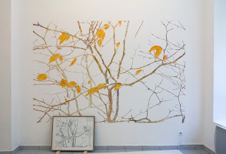 Richard Müller: Plantes dépassant la neige 2 peinture murale