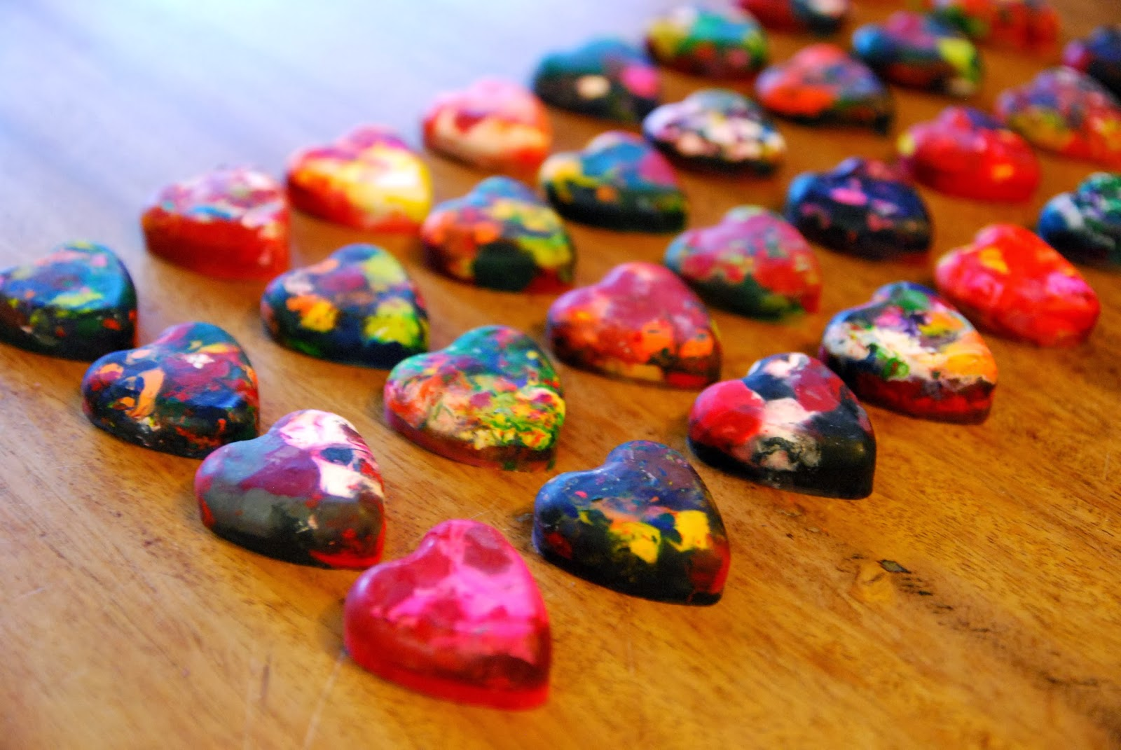 Vet School Widow: Crayon Shaped Hearts for Valentine's Day
