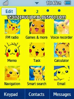Pikachu Pokemon Corby 2 Theme Menu