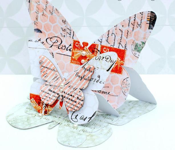 Paso a Paso para Hacer Tarjeta 3D con Mariposas. Con Plantilla.