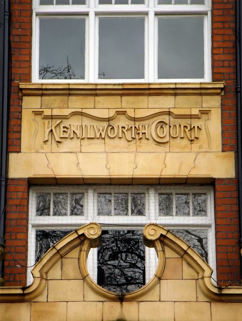 kenilworth court putney typography