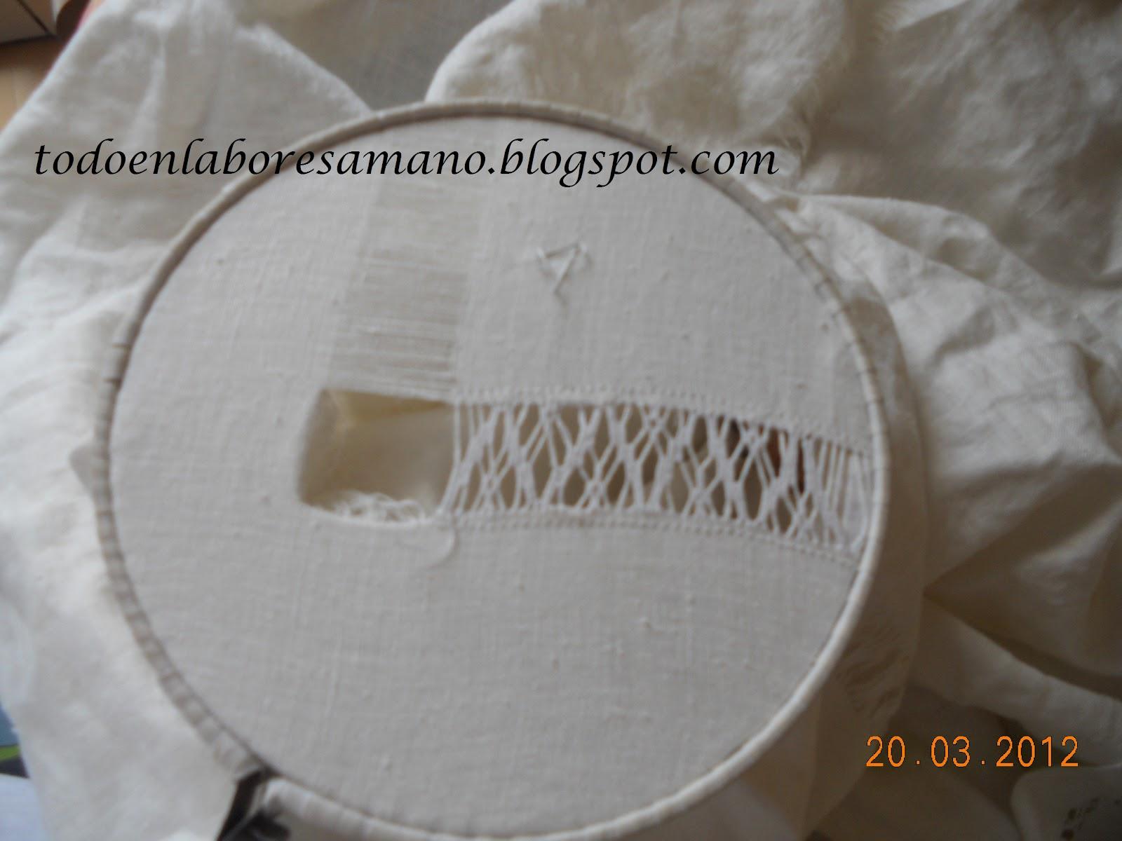 Labores a mano manteleria a vainicas - Como hacer una manteleria ...
