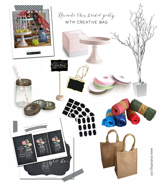 bridal shower party products from Canadian retailer Creative Bag