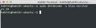 Cek Versi BIOS di Ubuntu