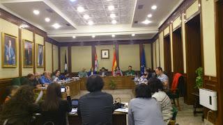 Imagen de la sesión plenaria en la que se aprobó la ordenanza